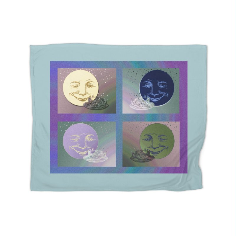 The Moon And I Home Fleece Blanket Blanket by Maryheartworks's Artist Shop