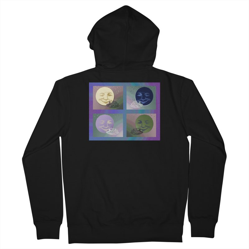The Moon And I Men's French Terry Zip-Up Hoody by Maryheartworks's Artist Shop