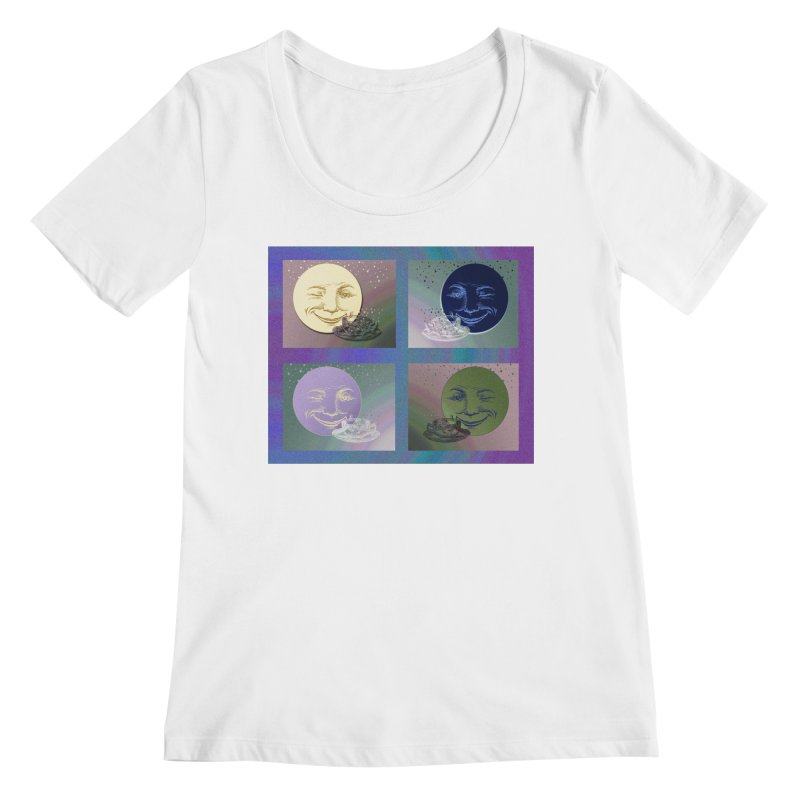 The Moon And I Women's Regular Scoop Neck by Maryheartworks's Artist Shop