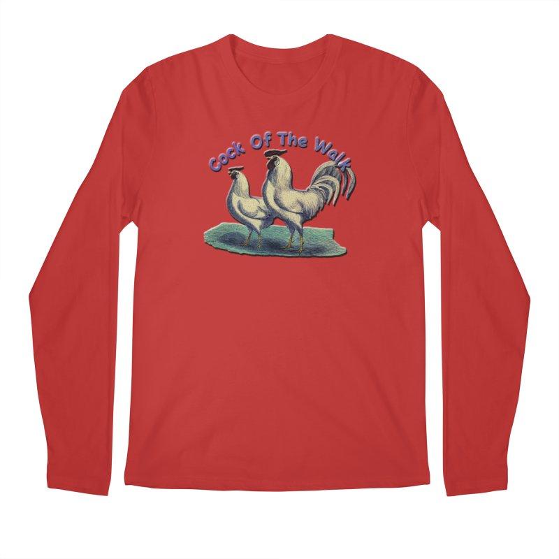 Cock Of The Walk Men's Regular Longsleeve T-Shirt by Maryheartworks's Artist Shop