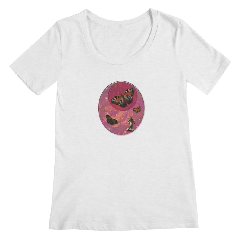 Butterfly Circus - Tent #3 Women's Regular Scoop Neck by Maryheartworks's Artist Shop