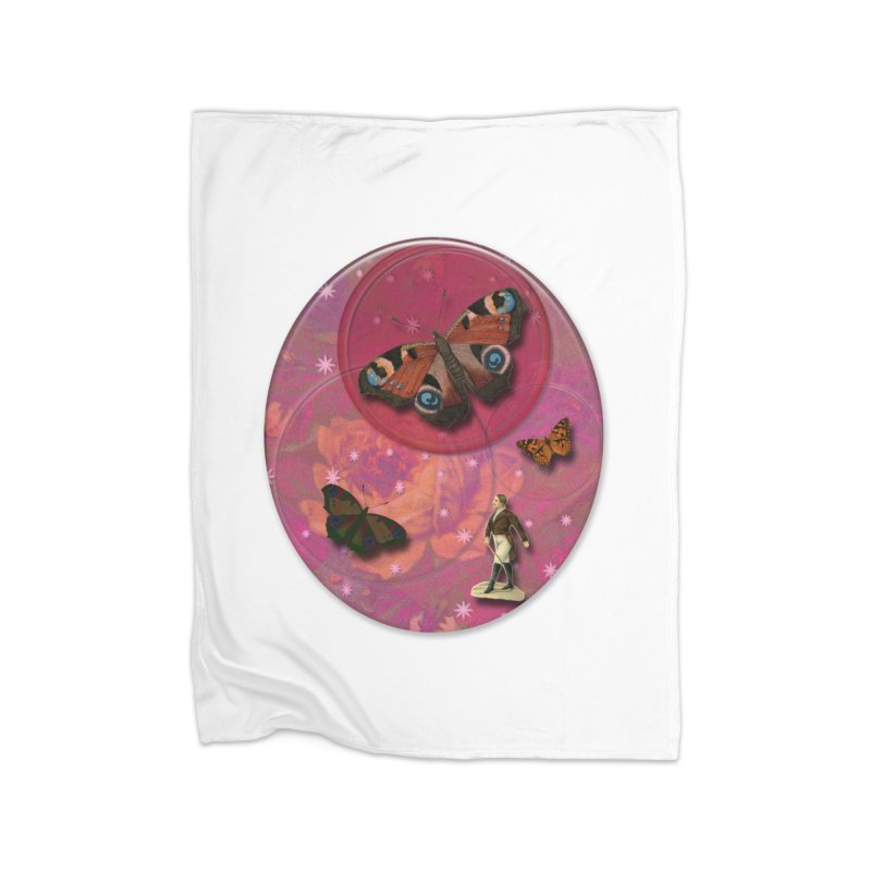Butterfly Circus - Tent #3 Home Fleece Blanket Blanket by Maryheartworks's Artist Shop