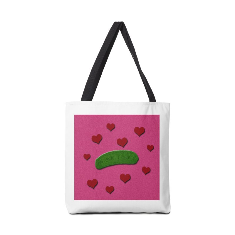 My Sweet Pickle In Pink, Red And Green Shimmer Accessories Tote Bag Bag by Maryheartworks's Artist Shop