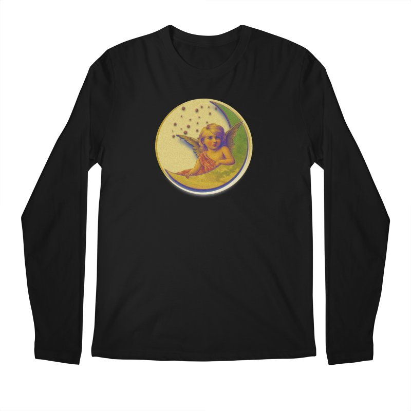Angel Wings And Rings 2 Men's Regular Longsleeve T-Shirt by Maryheartworks's Artist Shop