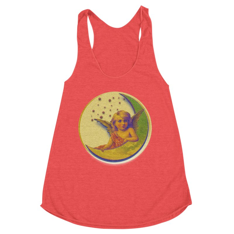 Angel Wings And Rings 2 Women's Racerback Triblend Tank by Maryheartworks's Artist Shop