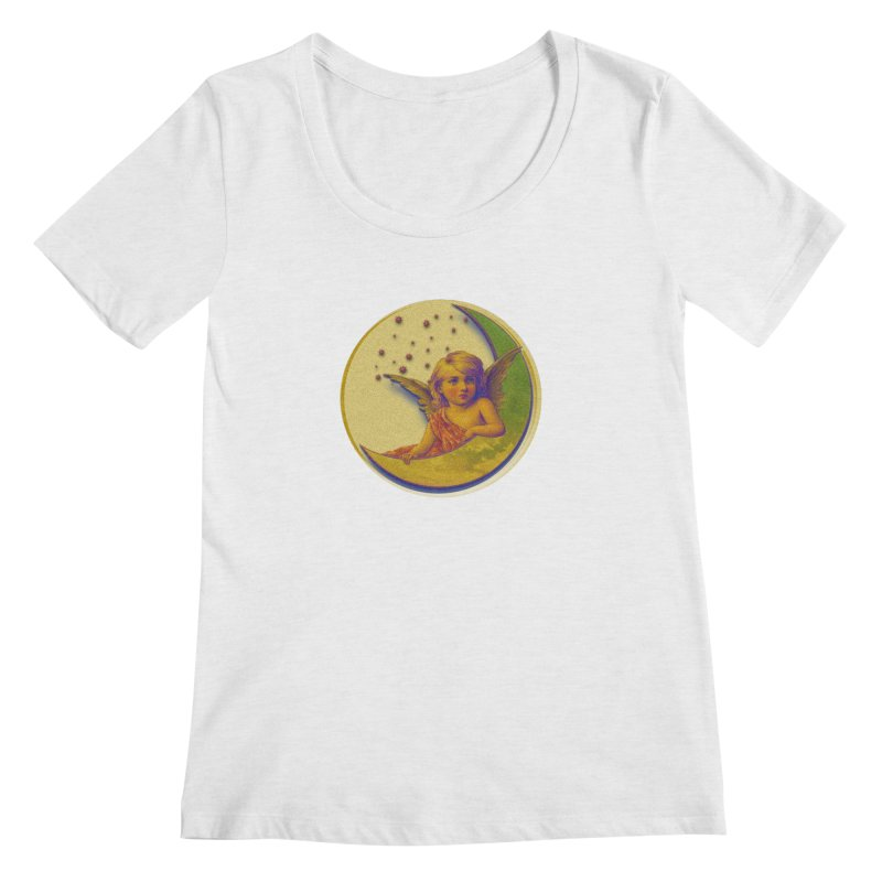 Angel Wings And Rings 2 Women's Regular Scoop Neck by Maryheartworks's Artist Shop