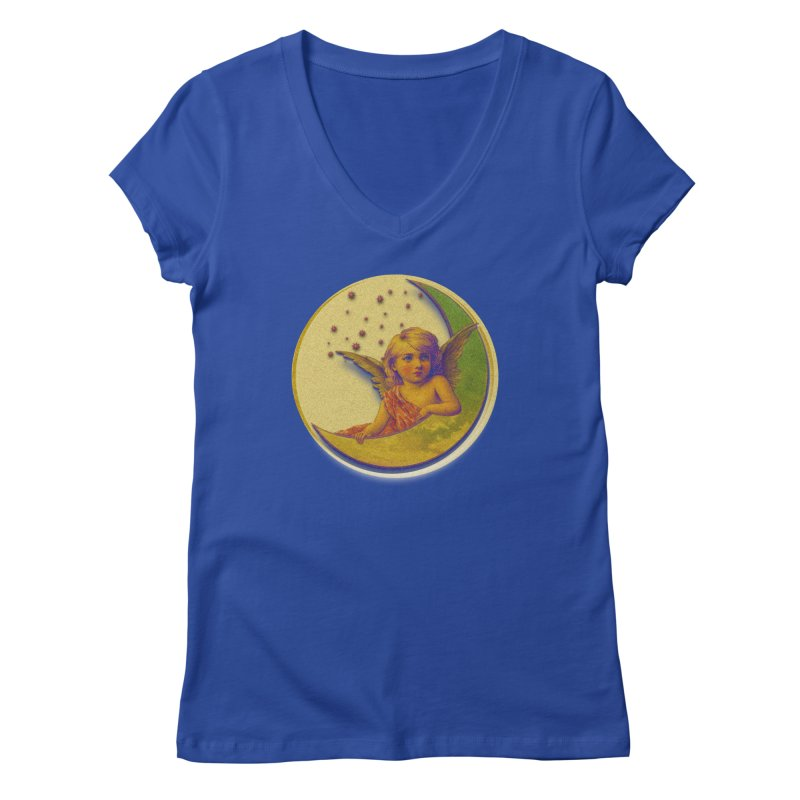Angel Wings And Rings 2 Women's Regular V-Neck by Maryheartworks's Artist Shop