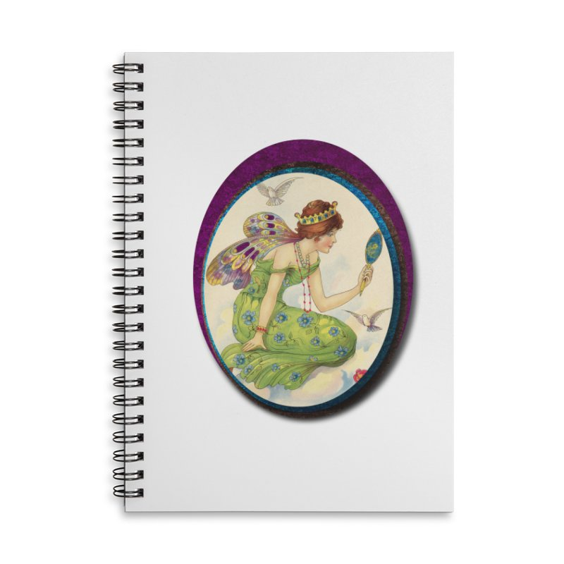Fairy With Her Looking Glass Accessories Lined Spiral Notebook by Maryheartworks's Artist Shop