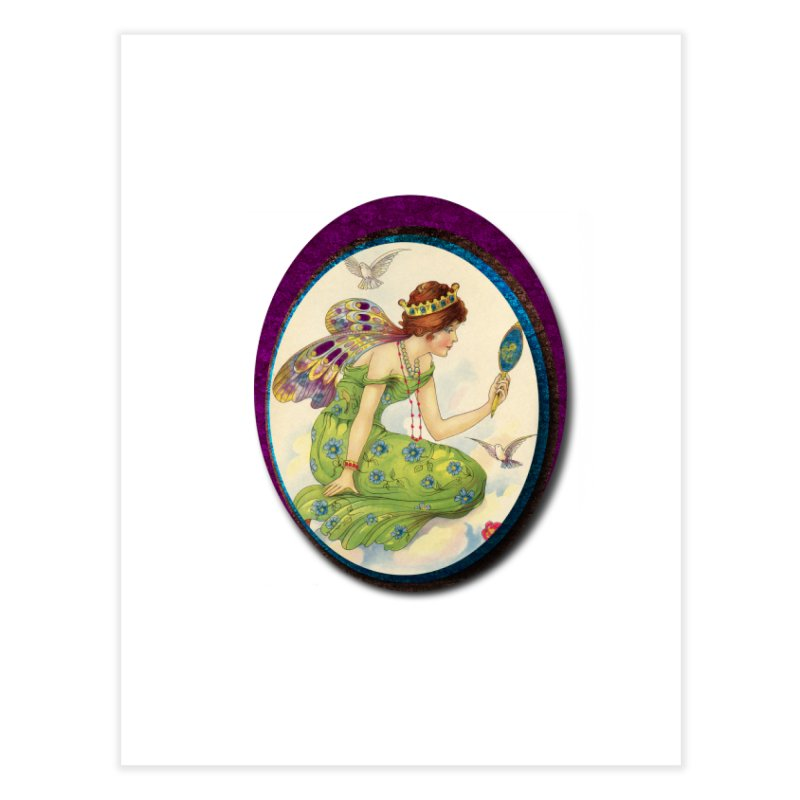 Fairy With Her Looking Glass Home Fine Art Print by Maryheartworks's Artist Shop