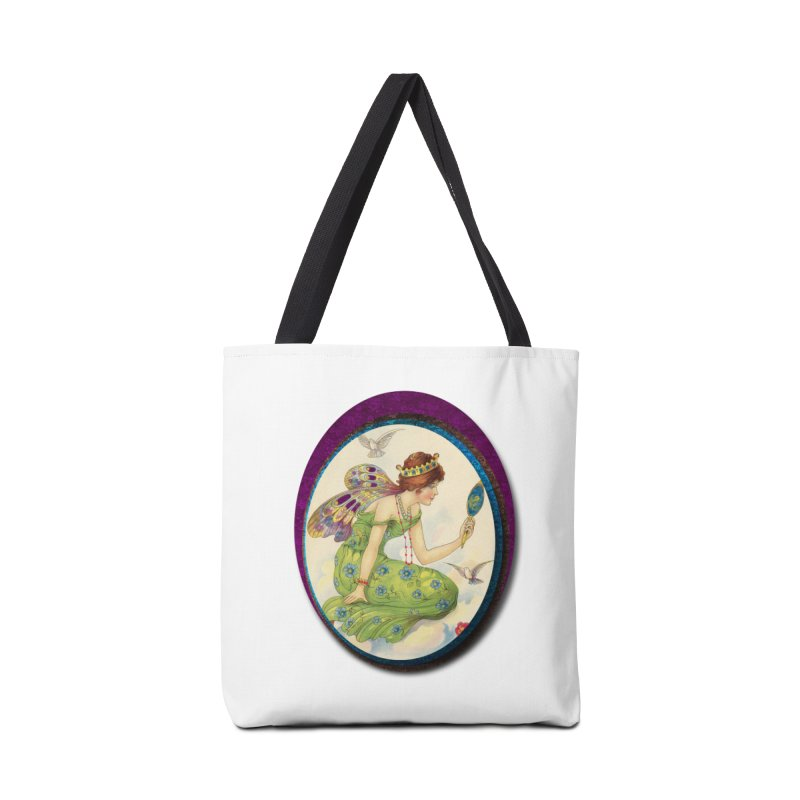 Fairy With Her Looking Glass Accessories Tote Bag Bag by Maryheartworks's Artist Shop