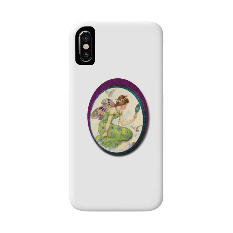 Fairy With Her Looking Glass Accessories Phone Case by Maryheartworks's Artist Shop