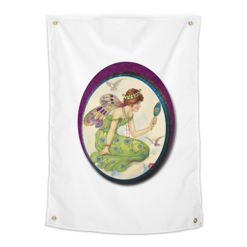 Fairy With Her Looking Glass Home Tapestry by Maryheartworks's Artist Shop