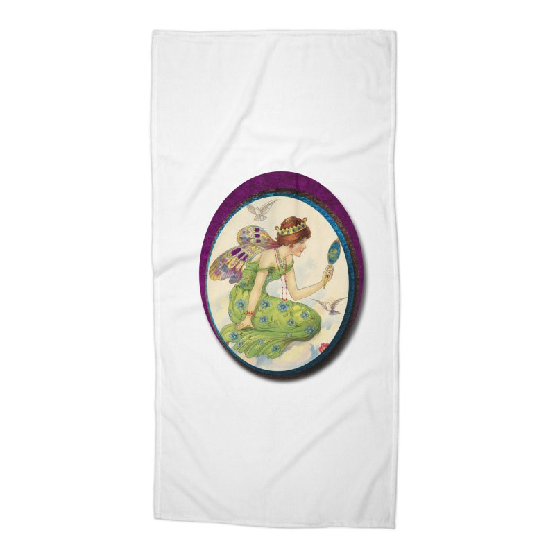 Fairy With Her Looking Glass Accessories Beach Towel by Maryheartworks's Artist Shop