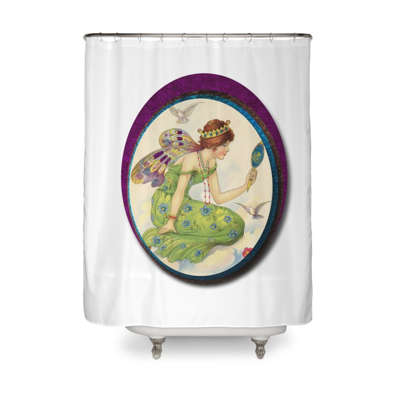 Fairy With Her Looking Glass Home Shower Curtain by Maryheartworks's Artist Shop
