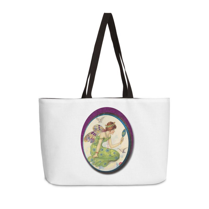 Fairy With Her Looking Glass Accessories Weekender Bag Bag by Maryheartworks's Artist Shop