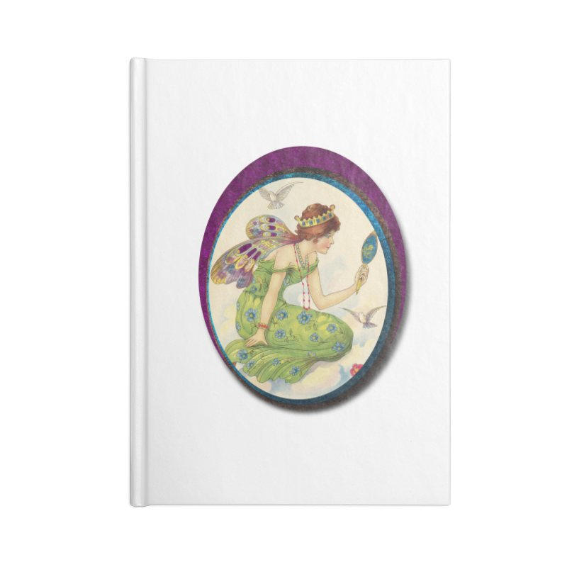 Fairy With Her Looking Glass Accessories Lined Journal Notebook by Maryheartworks's Artist Shop
