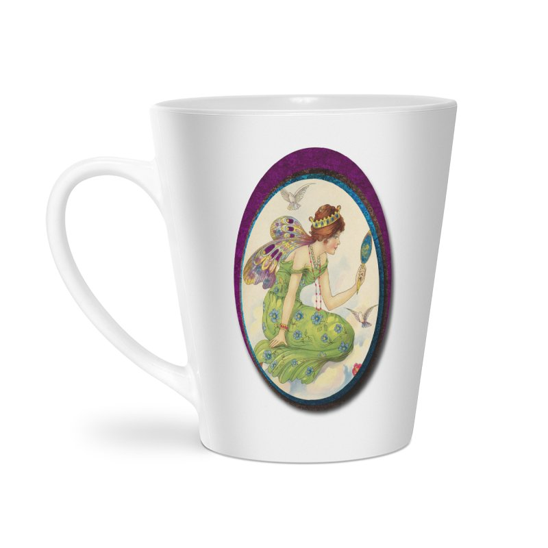 Fairy With Her Looking Glass Accessories Latte Mug by Maryheartworks's Artist Shop