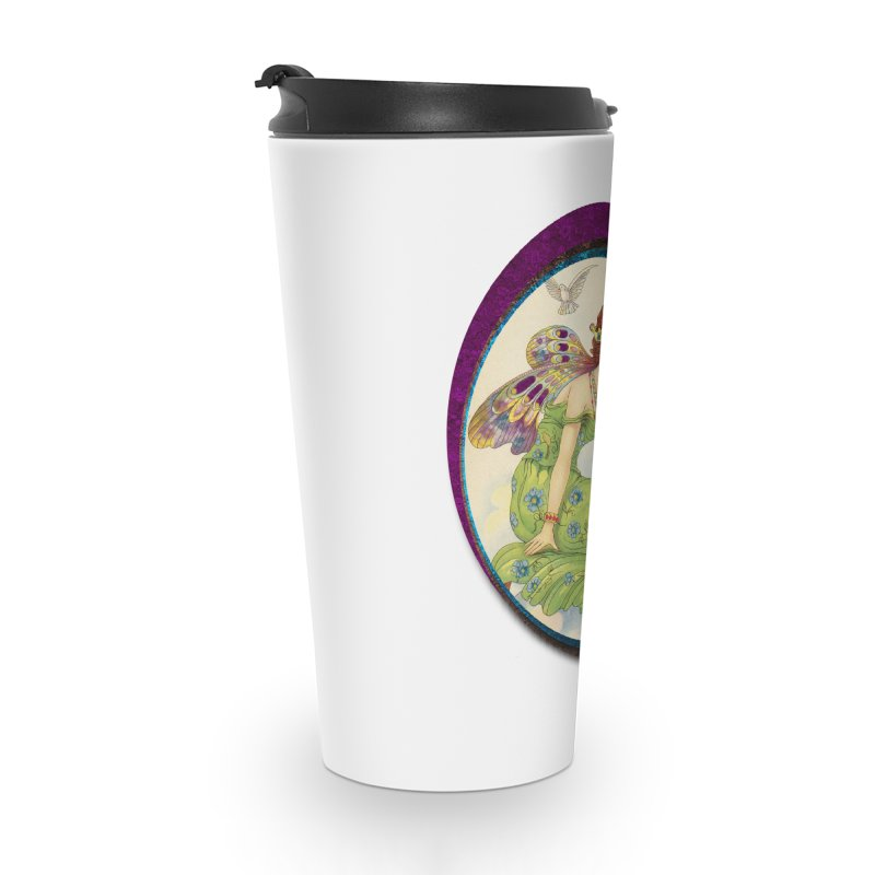 Fairy With Her Looking Glass Accessories Travel Mug by Maryheartworks's Artist Shop