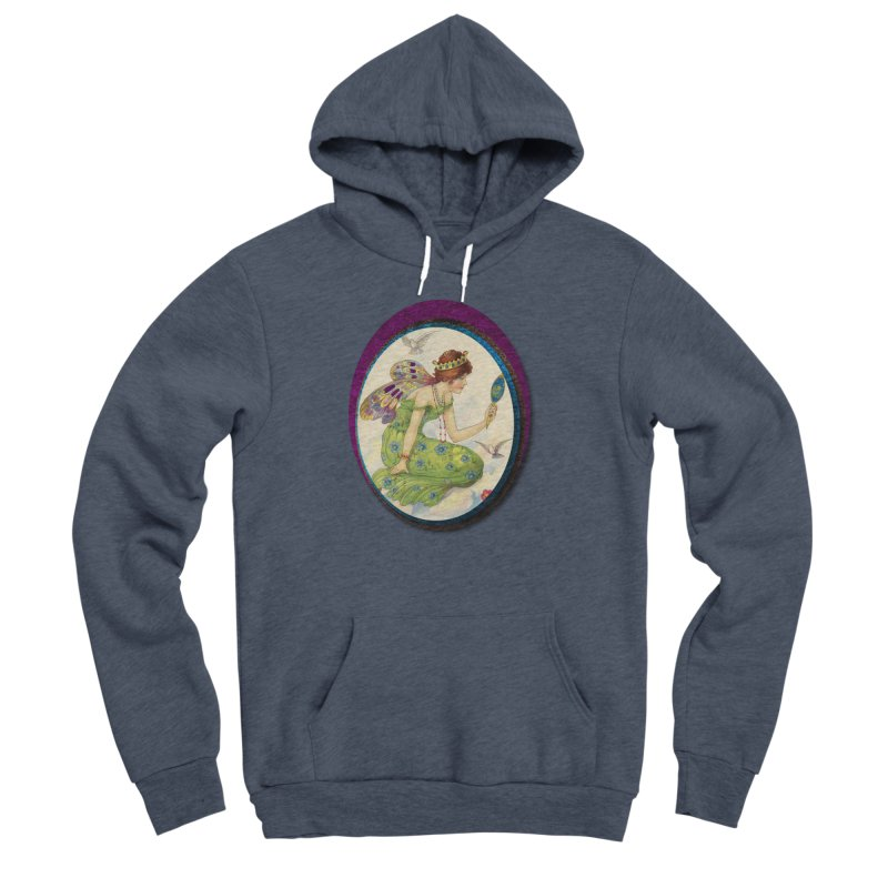 Fairy With Her Looking Glass Men's Sponge Fleece Pullover Hoody by Maryheartworks's Artist Shop