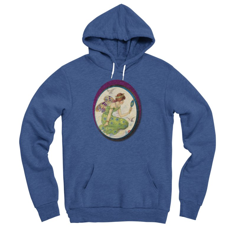 Fairy With Her Looking Glass Women's Sponge Fleece Pullover Hoody by Maryheartworks's Artist Shop
