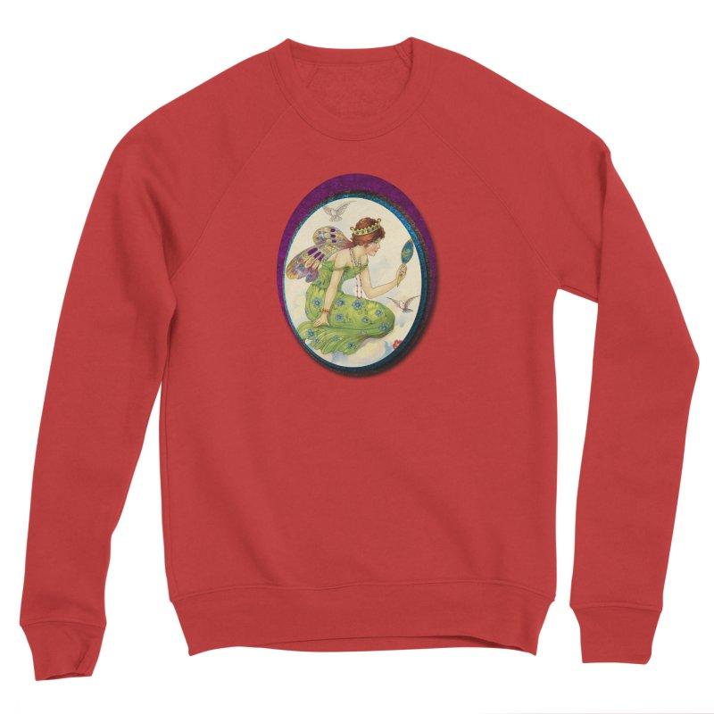 Fairy With Her Looking Glass Women's Sponge Fleece Sweatshirt by Maryheartworks's Artist Shop