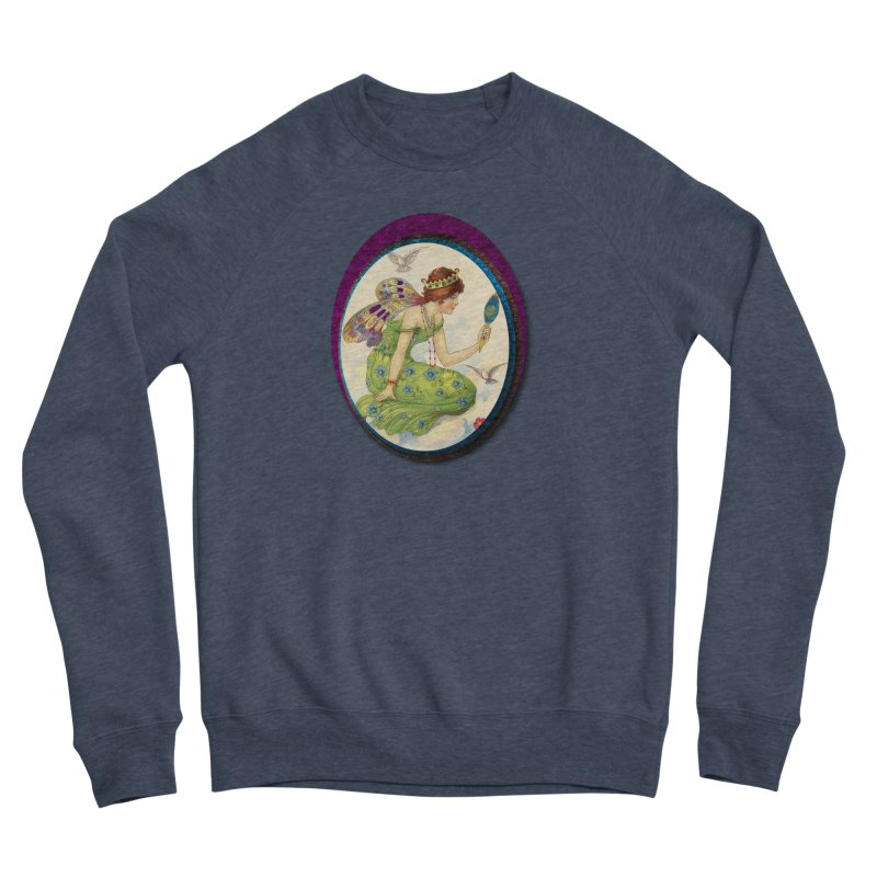 Fairy With Her Looking Glass Men's Sponge Fleece Sweatshirt by Maryheartworks's Artist Shop
