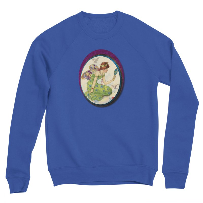 Fairy With Her Looking Glass Men's Sponge Fleece Sweatshirt by Maryheartworks's Artist Shop