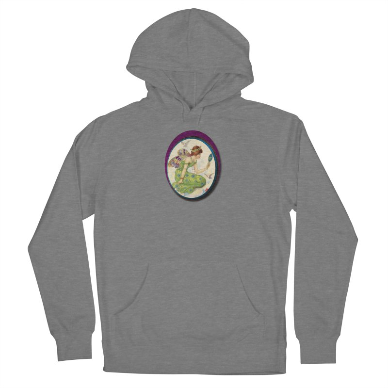 Fairy With Her Looking Glass Women's Pullover Hoody by Maryheartworks's Artist Shop