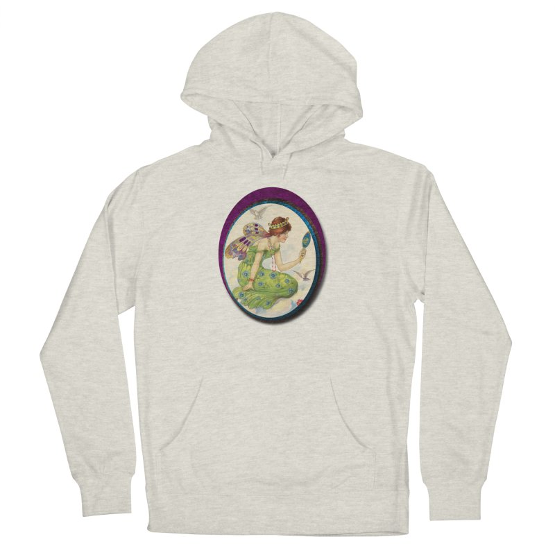 Fairy With Her Looking Glass Women's French Terry Pullover Hoody by Maryheartworks's Artist Shop
