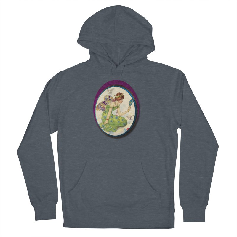 Fairy With Her Looking Glass Men's French Terry Pullover Hoody by Maryheartworks's Artist Shop
