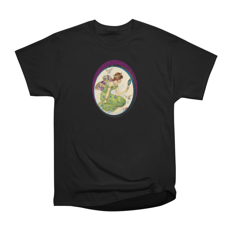 Fairy With Her Looking Glass Women's Heavyweight Unisex T-Shirt by Maryheartworks's Artist Shop
