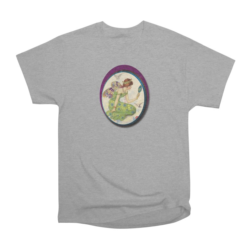 Fairy With Her Looking Glass Men's Heavyweight T-Shirt by Maryheartworks's Artist Shop