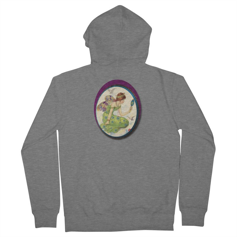 Fairy With Her Looking Glass Women's French Terry Zip-Up Hoody by Maryheartworks's Artist Shop