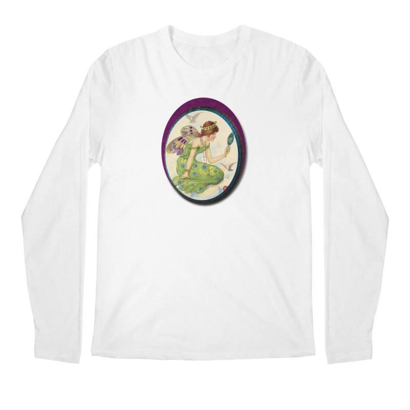 Fairy With Her Looking Glass Men's Regular Longsleeve T-Shirt by Maryheartworks's Artist Shop