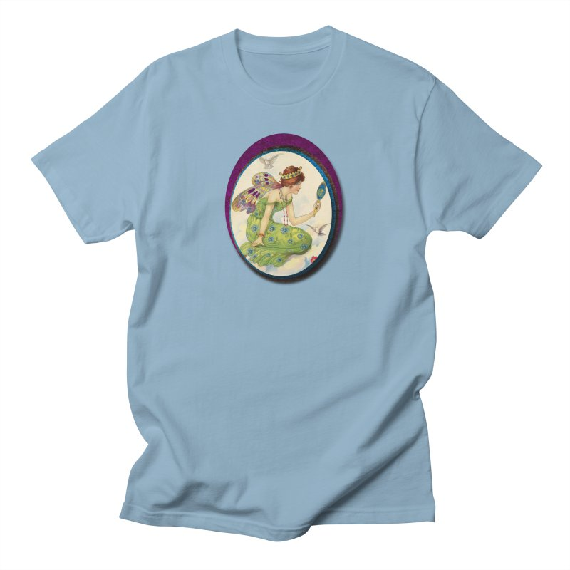 Fairy With Her Looking Glass Men's Regular T-Shirt by Maryheartworks's Artist Shop