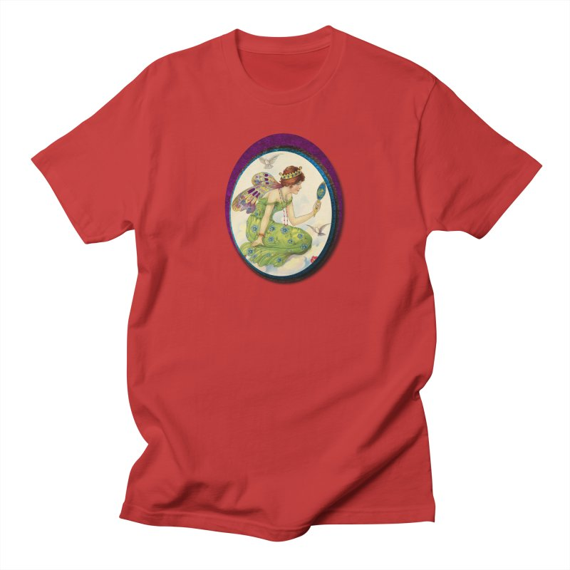 Fairy With Her Looking Glass Women's Regular Unisex T-Shirt by Maryheartworks's Artist Shop