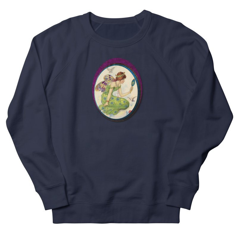 Fairy With Her Looking Glass Women's French Terry Sweatshirt by Maryheartworks's Artist Shop