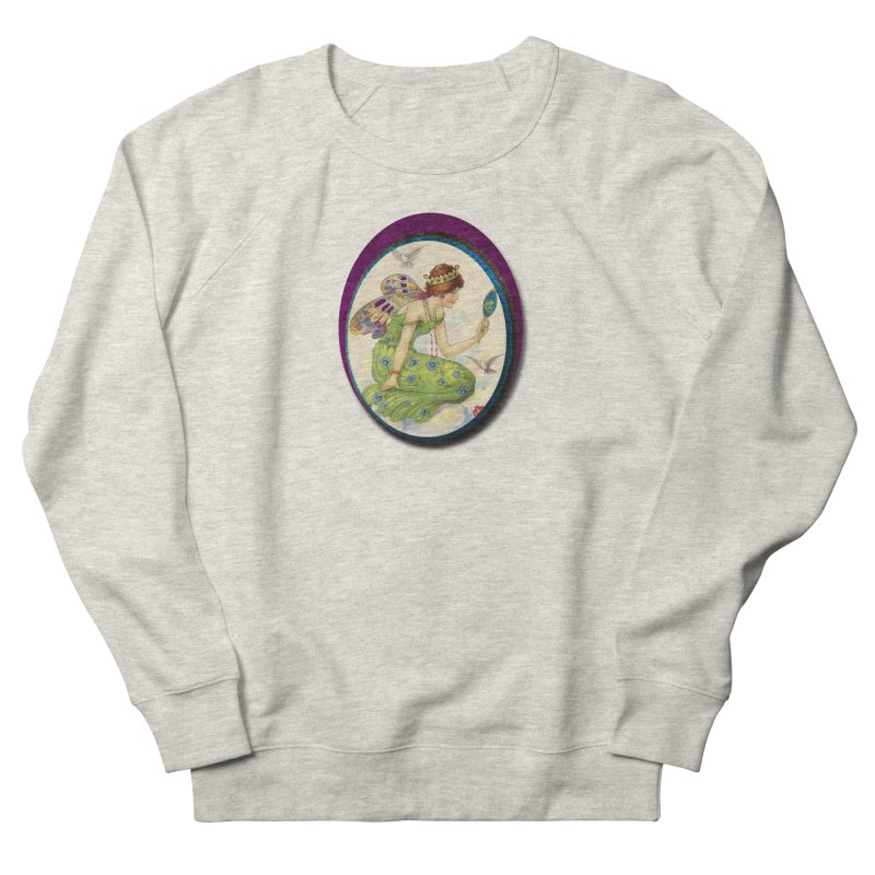 Fairy With Her Looking Glass Men's French Terry Sweatshirt by Maryheartworks's Artist Shop