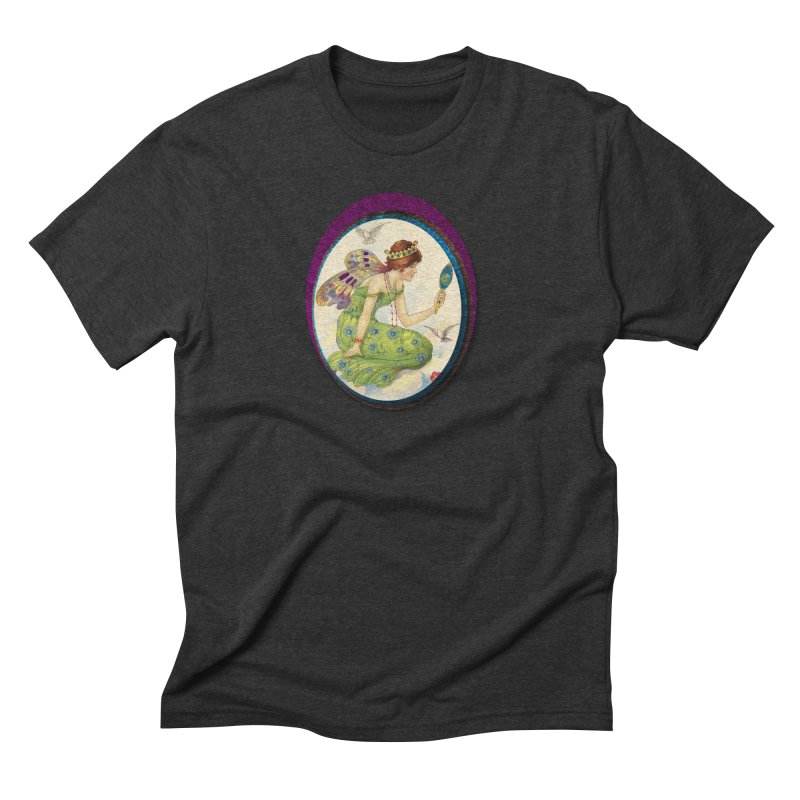 Fairy With Her Looking Glass Men's Triblend T-Shirt by Maryheartworks's Artist Shop