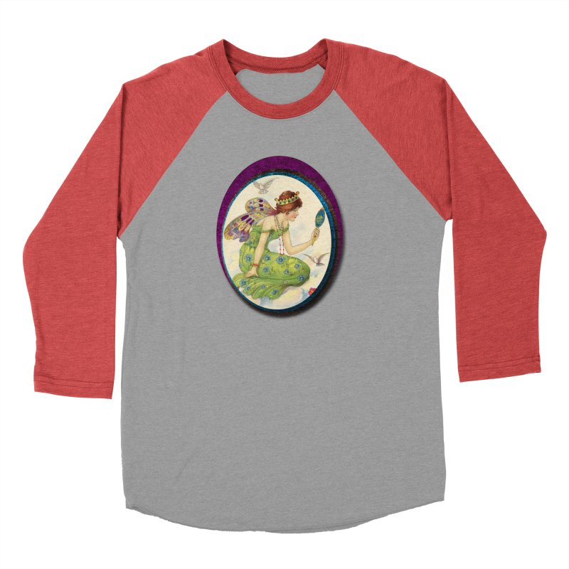 Fairy With Her Looking Glass Men's Longsleeve T-Shirt by Maryheartworks's Artist Shop