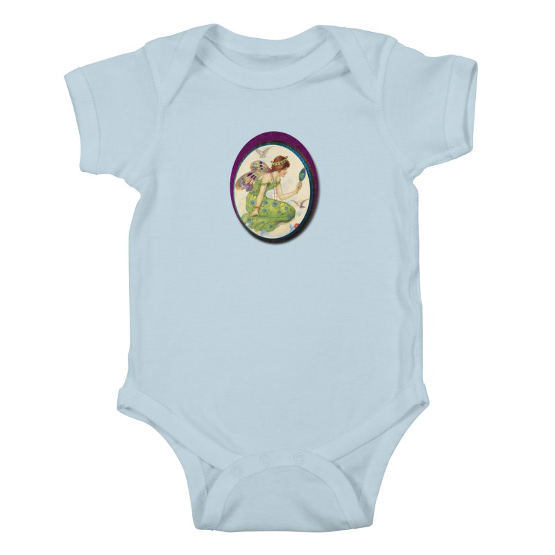 Fairy With Her Looking Glass Kids Baby Bodysuit by Maryheartworks's Artist Shop