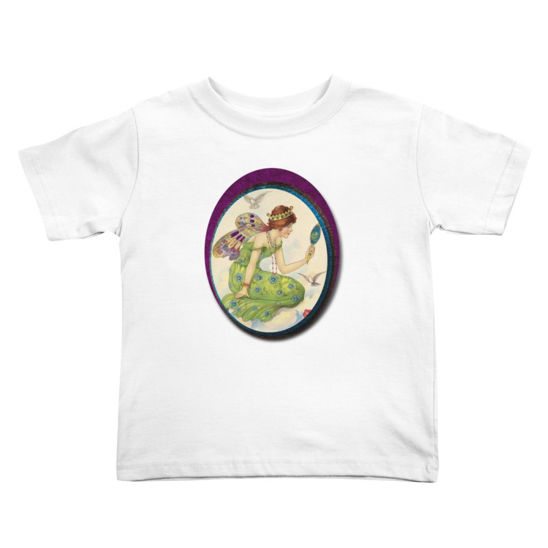 Fairy With Her Looking Glass Kids Toddler T-Shirt by Maryheartworks's Artist Shop