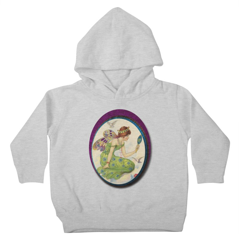 Fairy With Her Looking Glass Kids Toddler Pullover Hoody by Maryheartworks's Artist Shop