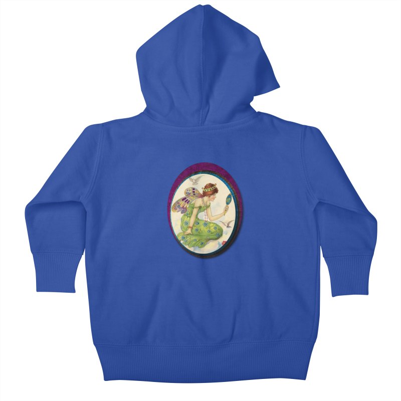 Fairy With Her Looking Glass Kids Baby Zip-Up Hoody by Maryheartworks's Artist Shop