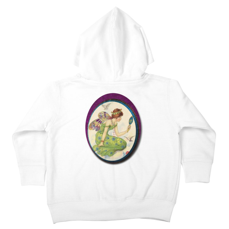 Fairy With Her Looking Glass Kids Toddler Zip-Up Hoody by Maryheartworks's Artist Shop