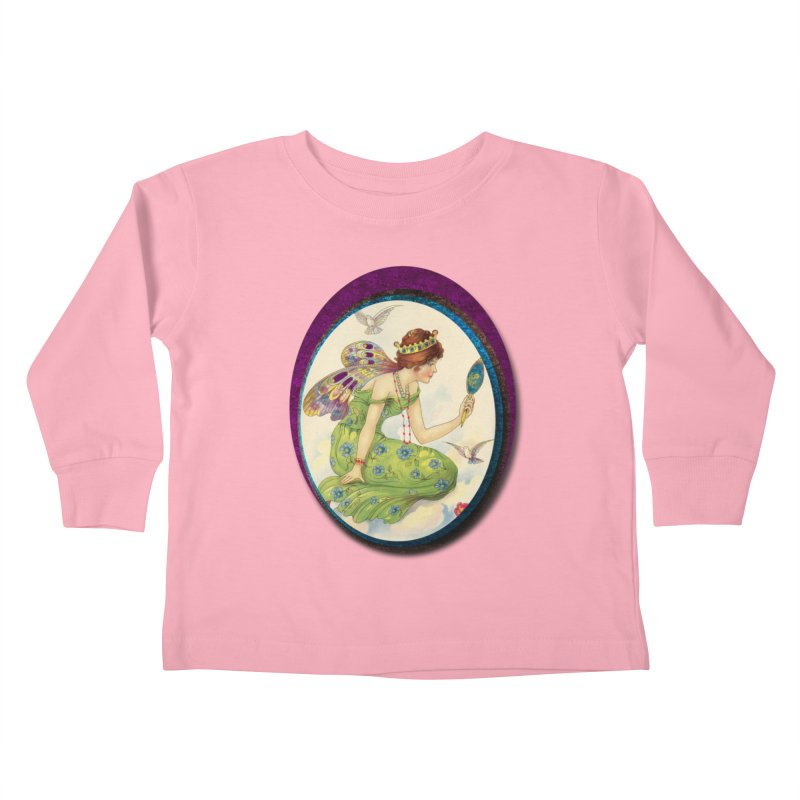 Fairy With Her Looking Glass Kids Toddler Longsleeve T-Shirt by Maryheartworks's Artist Shop