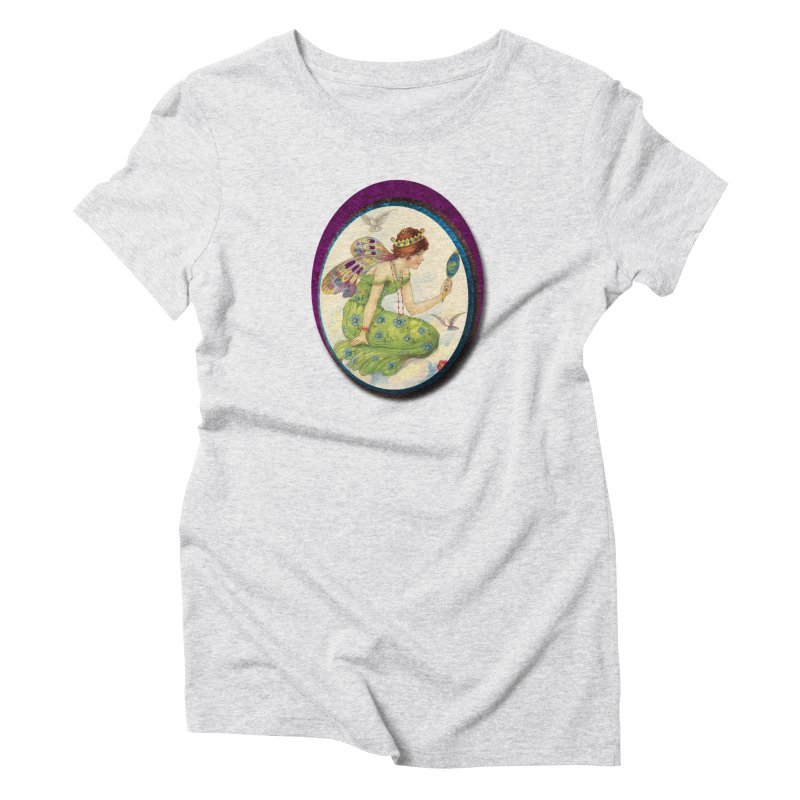 Fairy With Her Looking Glass Women's T-Shirt by Maryheartworks's Artist Shop