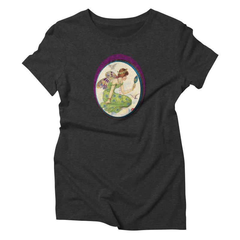 Fairy With Her Looking Glass Women's Triblend T-Shirt by Maryheartworks's Artist Shop