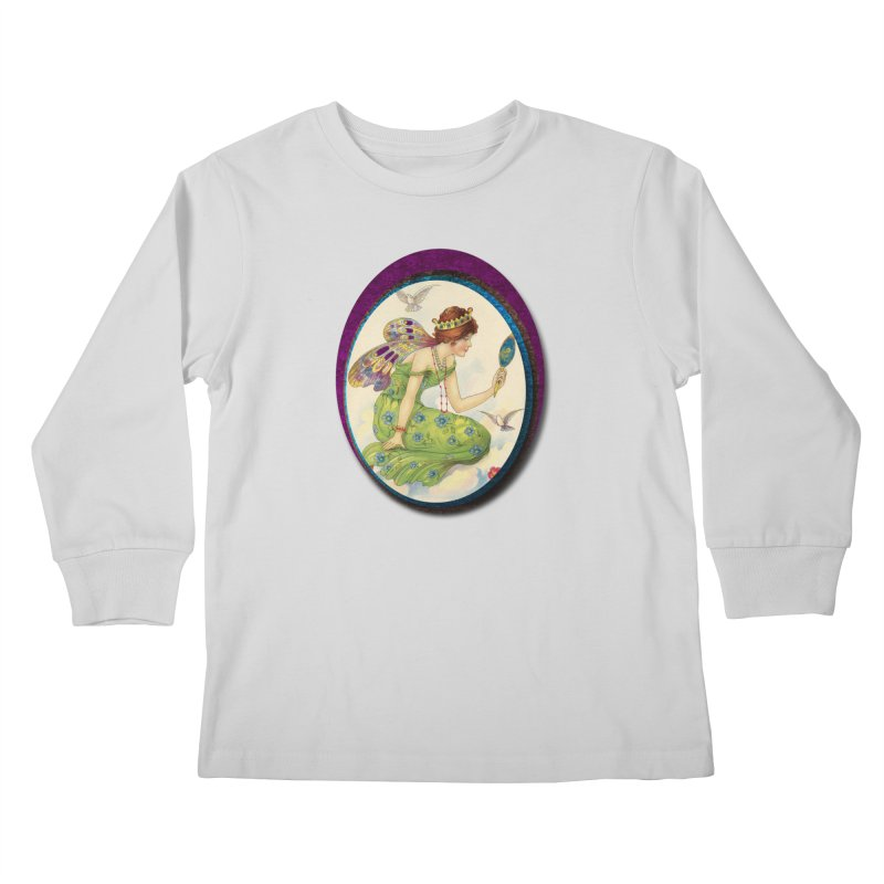 Fairy With Her Looking Glass Kids Longsleeve T-Shirt by Maryheartworks's Artist Shop