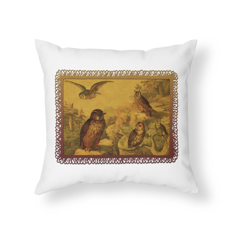Owl Love Home Throw Pillow by Maryheartworks's Artist Shop